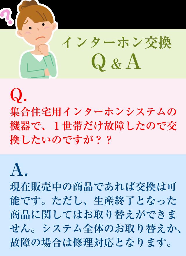 インターホン交換Q&A